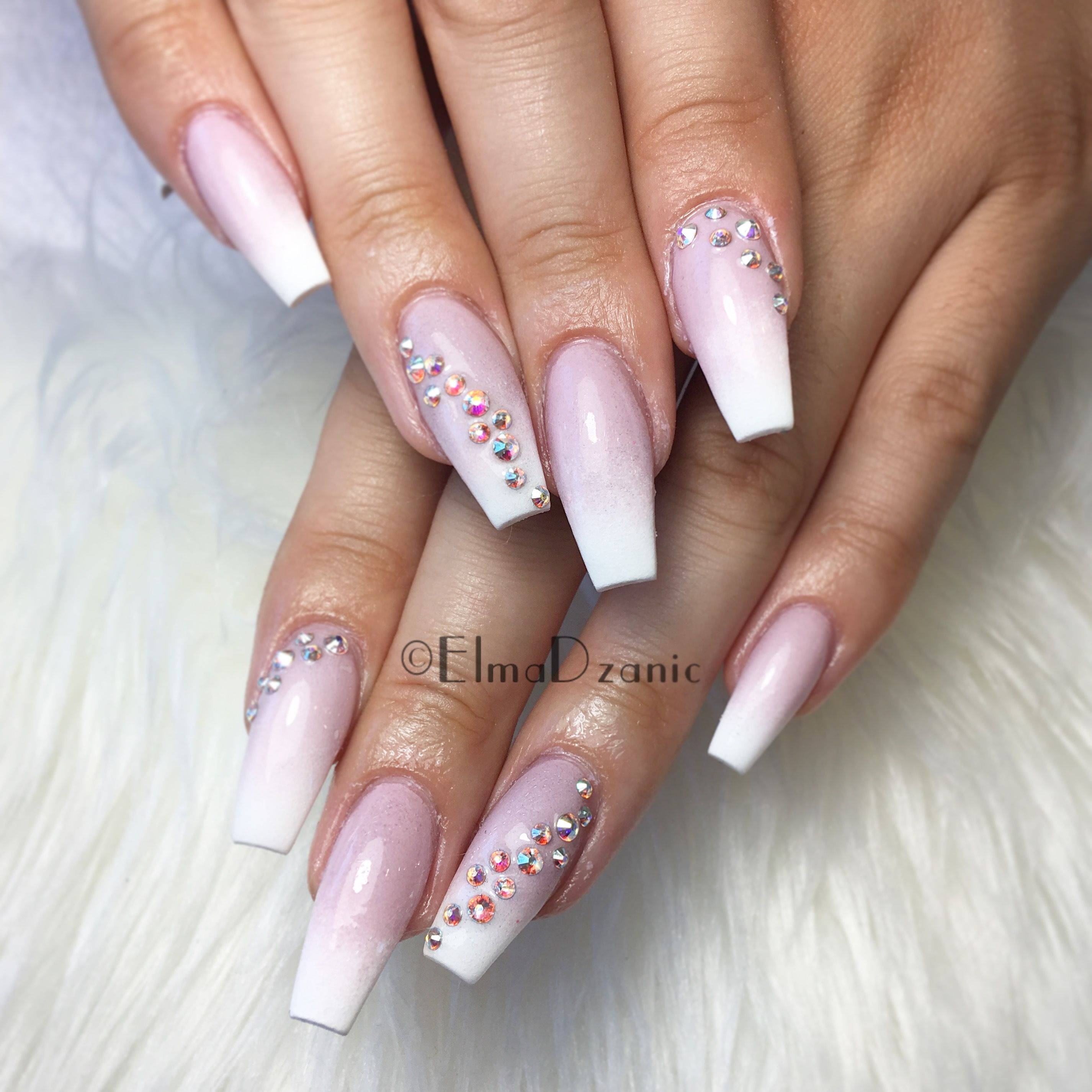 Ombré nail designs. Long coffin nail designs | Nails by Elma ...