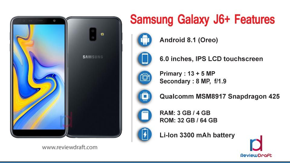Samsung Galaxy J6 Plus Price in Bangladesh, Specification