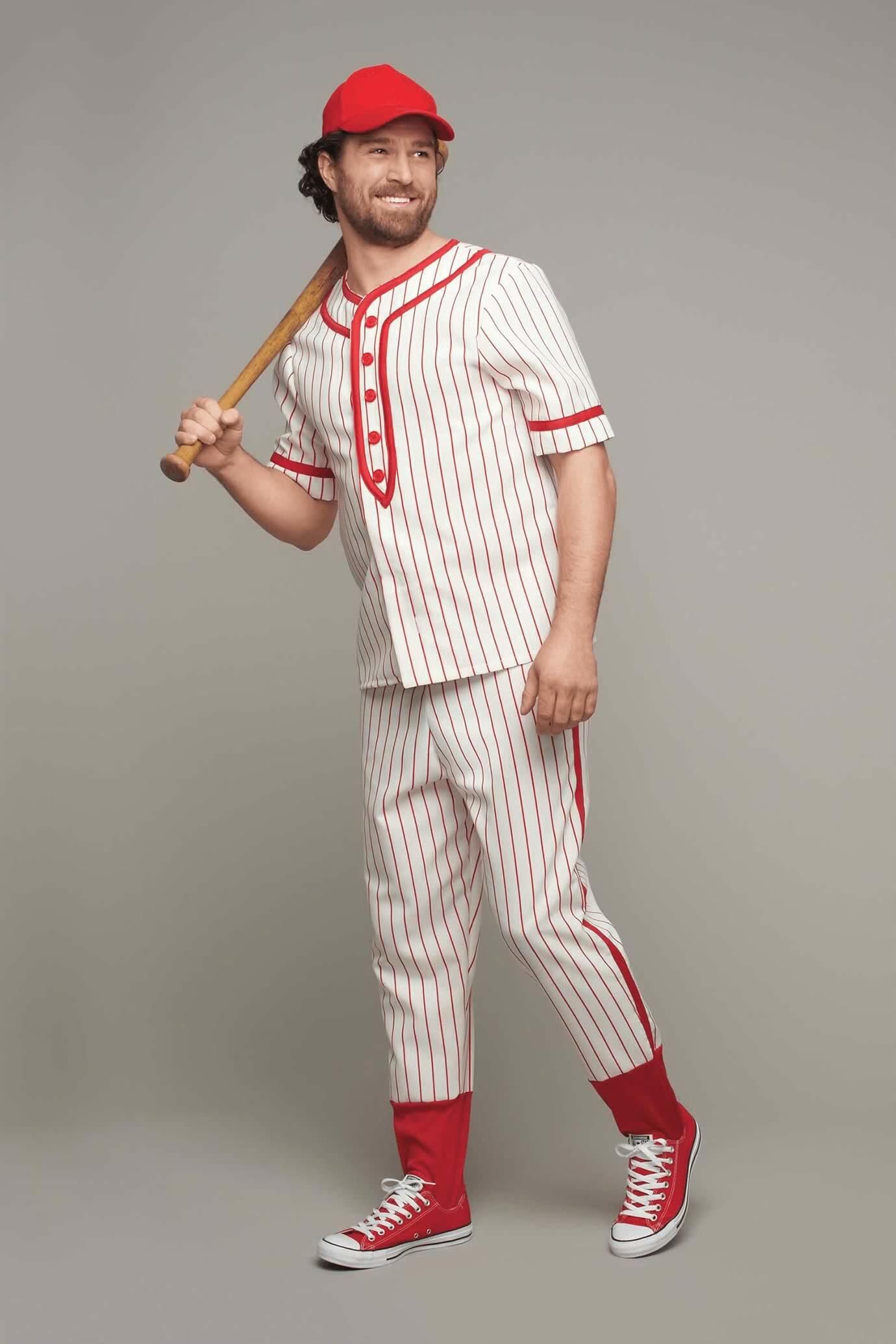 Retro Baseball Player Costume For Men Chasing Fireflies Baseball Player Costume Baseball Dress Mens Costumes