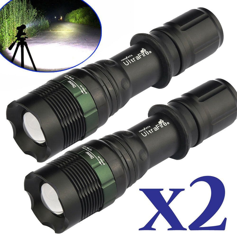 Tactical 50000LM LED T6 Zoomable LED Flashlight Torch /& 18650 Battery /& Charger*