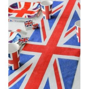 chemin de table angleterre union jack intiss 5 m chemin de table sets de tables pinterest. Black Bedroom Furniture Sets. Home Design Ideas
