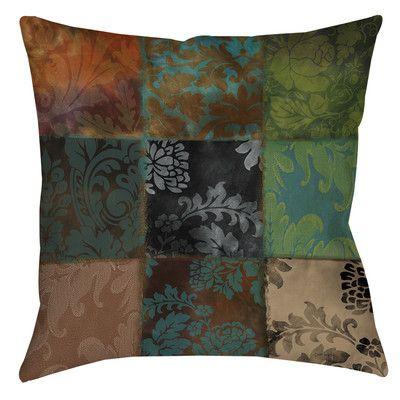 "Manual Woodworkers & Weavers Velvet Patch Indoor/Outdoor Throw Pillow Size: 18"" H x 18"" W x 5"" D, Color: Brown"