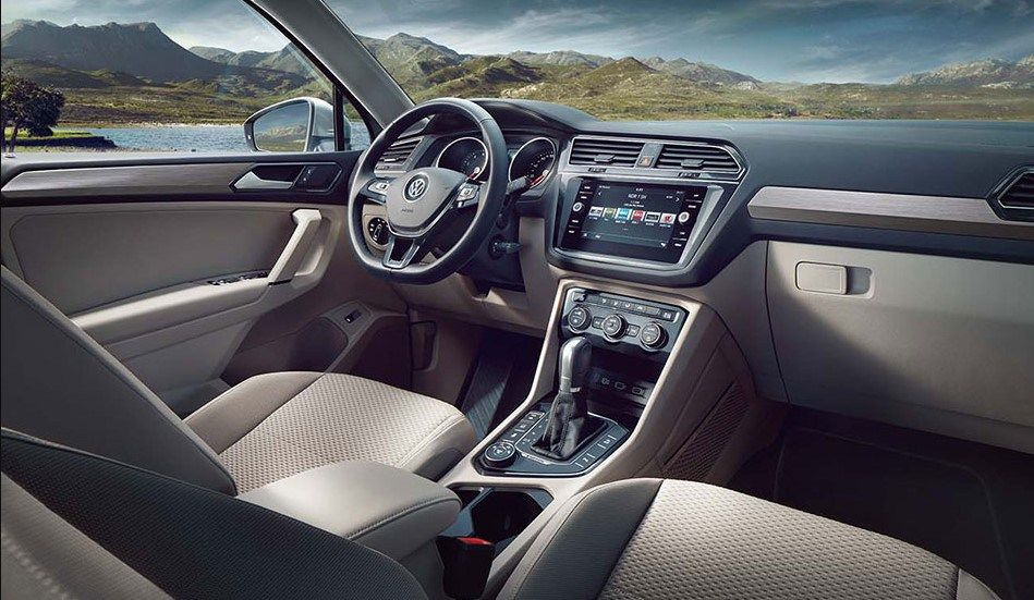 2019 vw tiguan allspace dashboard and devices tiguan r line latest technology volkswagen