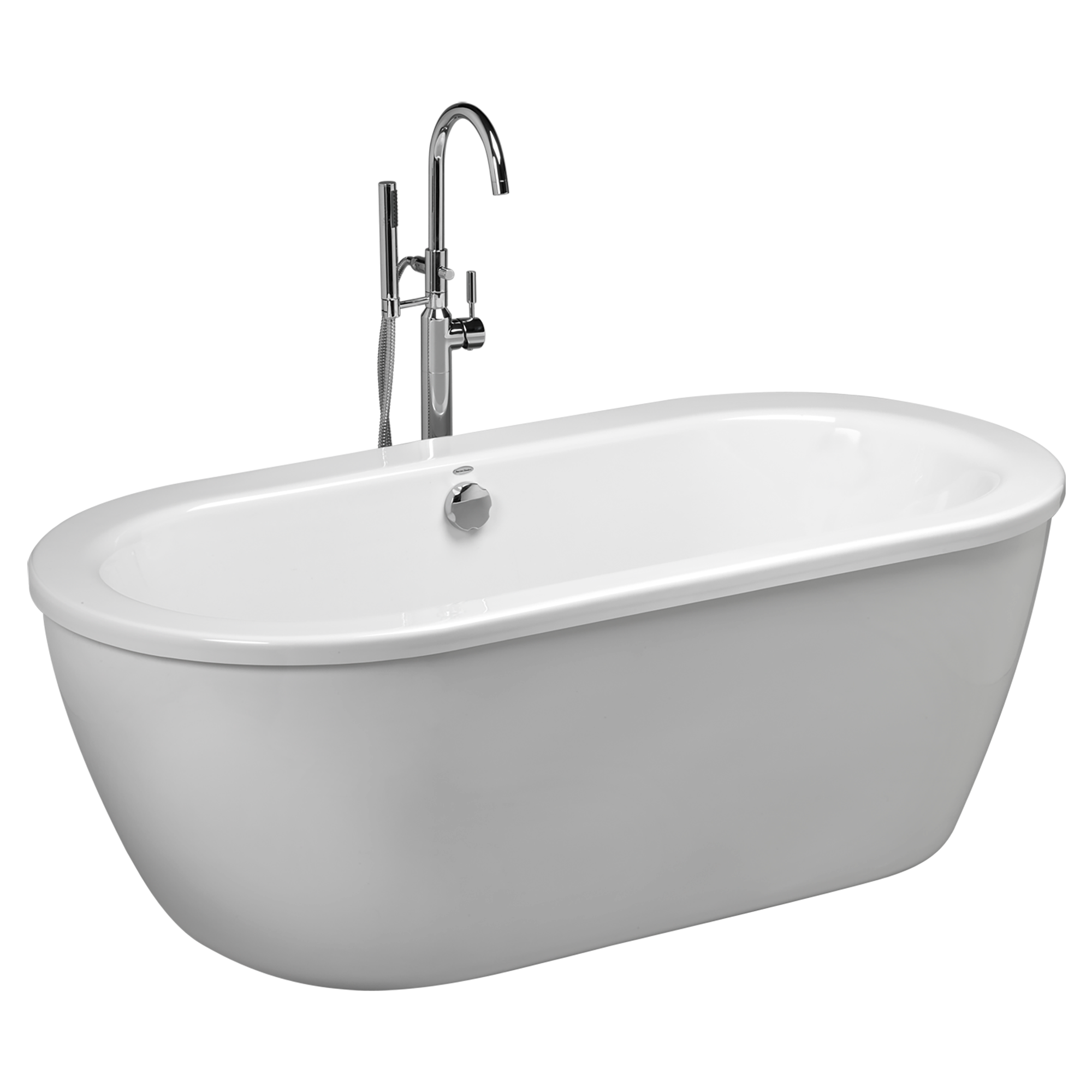 Stand Alone Tub. Cream Marble Undermount Whirlpool Two Person Tub ...