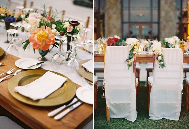 beautiful flowers, and table settings...