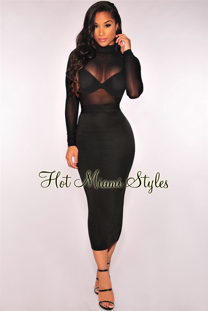 Black Ribbed Knit Midi Skirt sexy Womens clothing clothes hot miami styles hotmiamistyles hotmiamistyles.com sexy club wear evening clubwear cocktail party kim kardashian dresses bandage body con bodycon herve leger