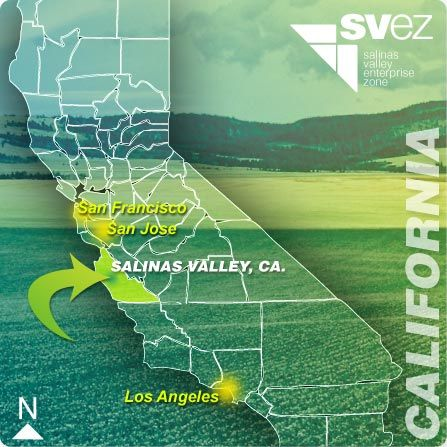 A map of California Salinas Valley Of Mice and Men Pinterest