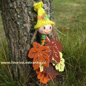 Stránky pro tvořivé - malé i velké - Podzim - Panenka Listěnka