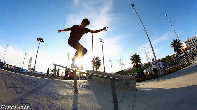 Portugal Algarve Skateboard Trick Bs Hurricane Skateboarding Tricks Skateboard Life