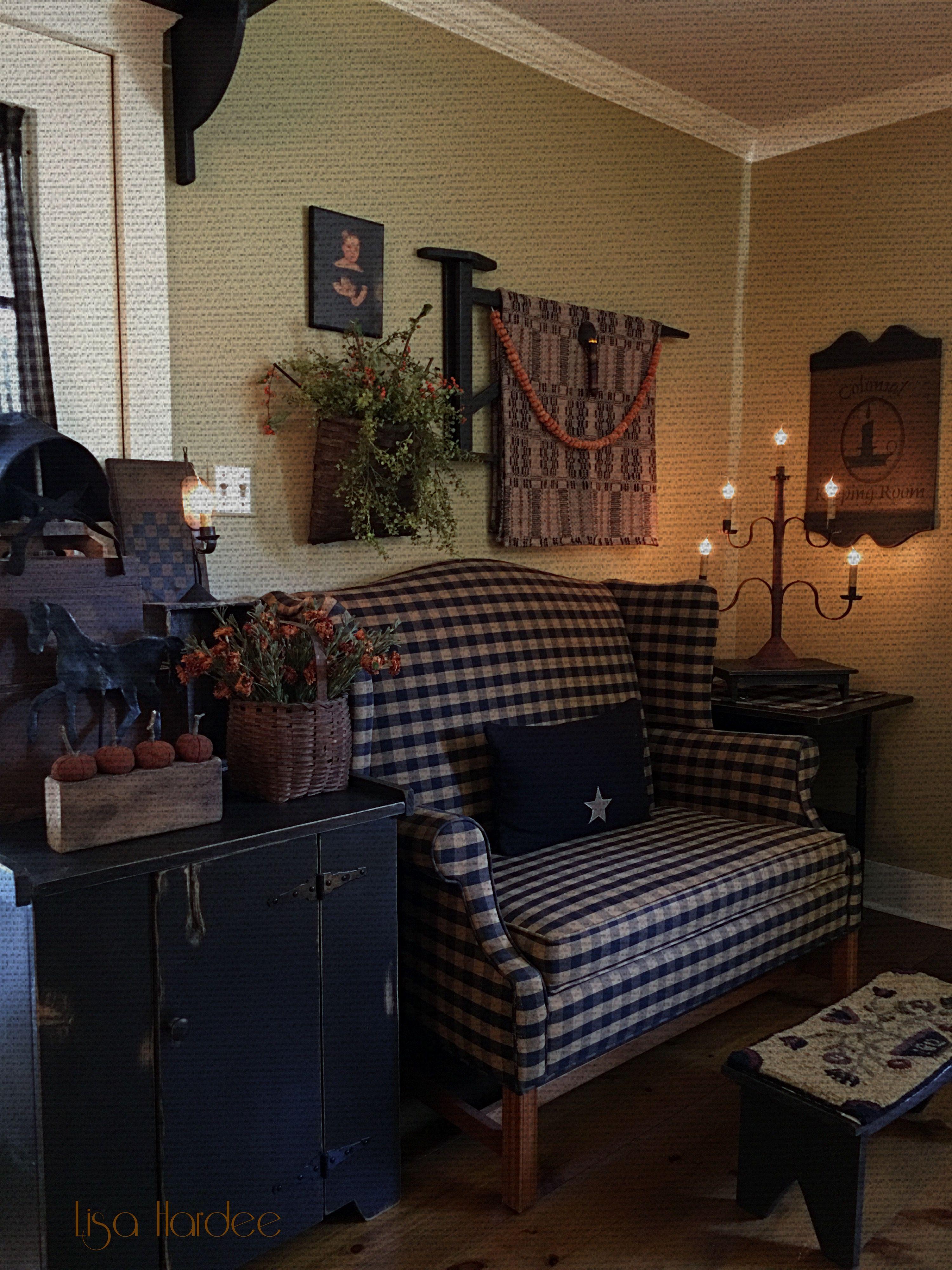 Pin On Primitive Decorating Around My House Lisa Hardee #primitive #decor #living #room
