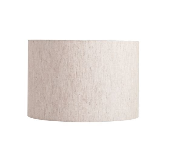 Straight Sided Linen Drum Lamp Shade Pottery Barn