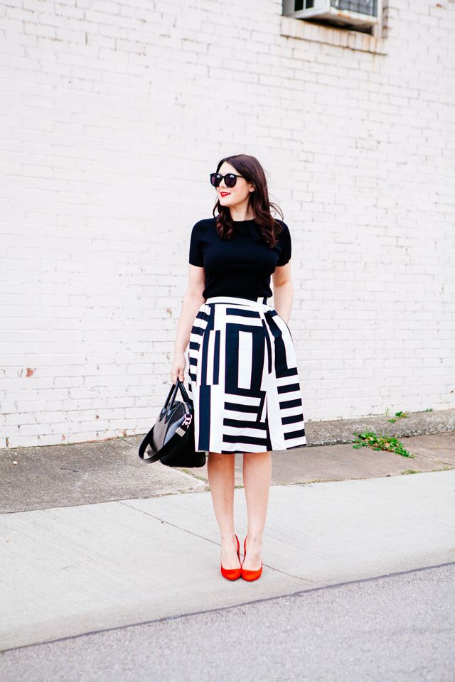 Bold Patterns #fullskirtoutfit