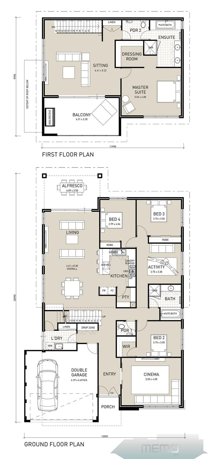 Apr 17 2017 This Large Two Storey Four Bedroom Home Features Your Own Private Adults Wing Upstai Two Storey House Plans House Layout Plans Two Storey House