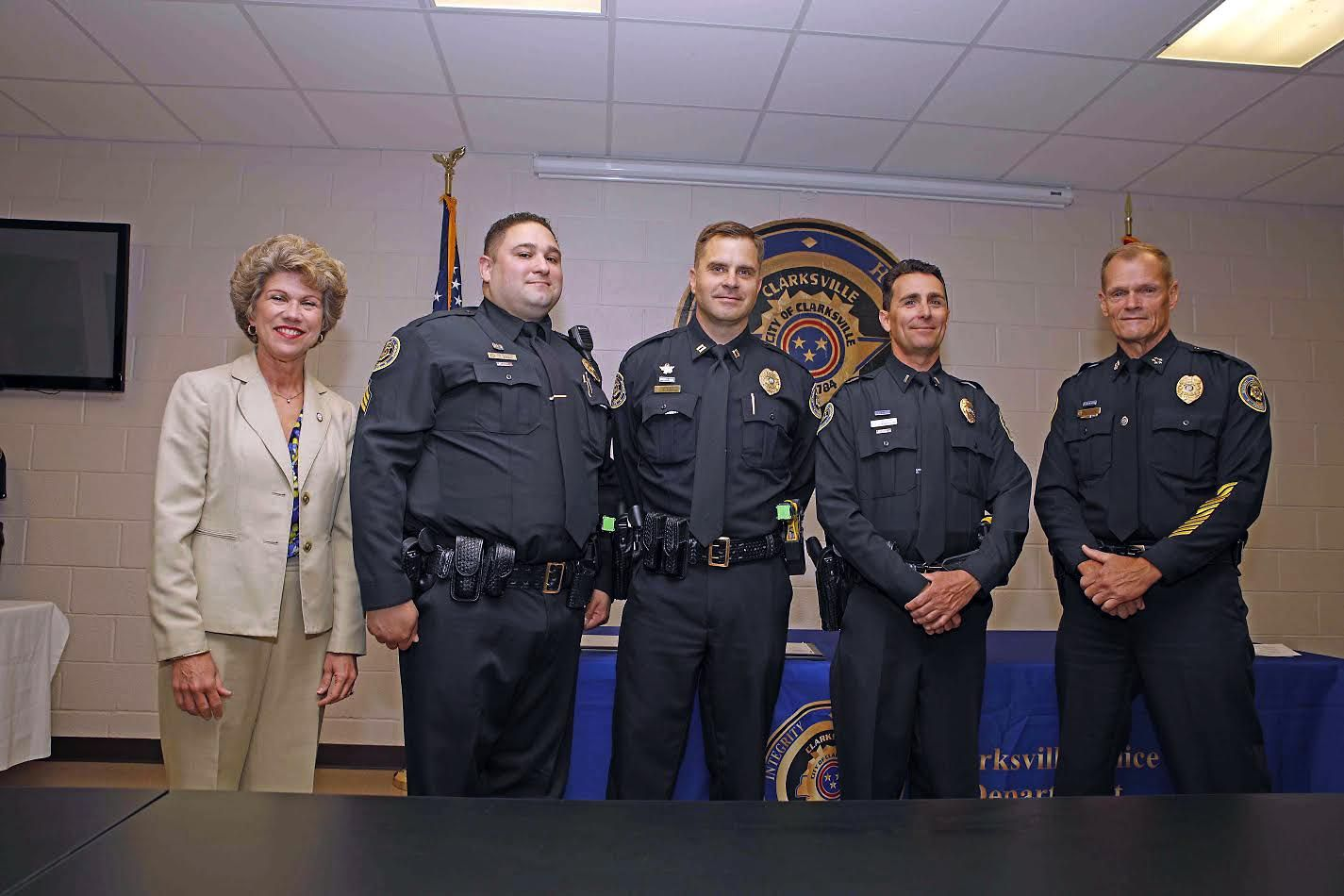 Clarksville Police Department Promotes Three Officers Police Department Police Officer