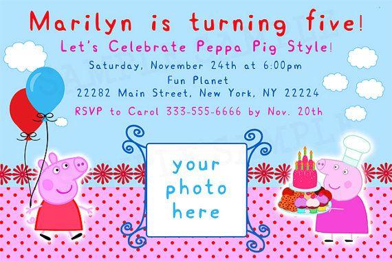 Peppa Pig Birthday Invitations Online Free