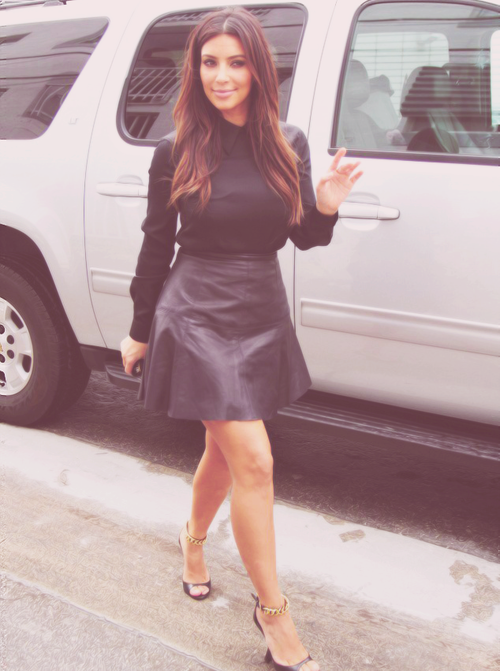 Love the leather skirt