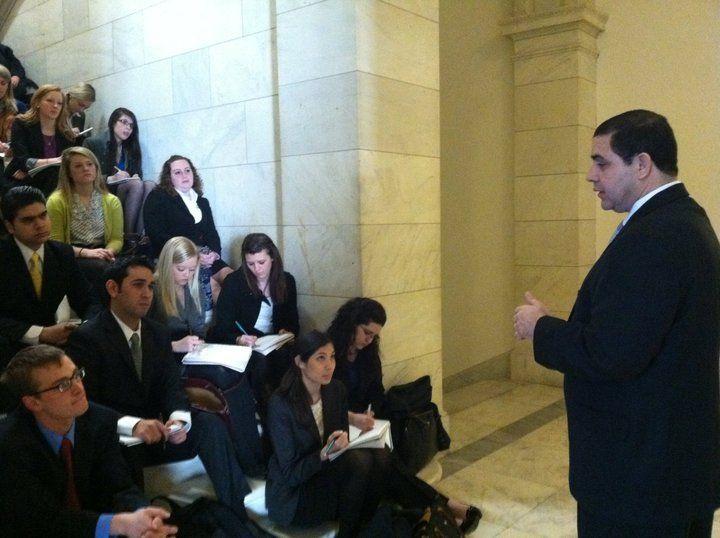 Rep  Henry Cuellar (D-TX) speaks to the American Politics