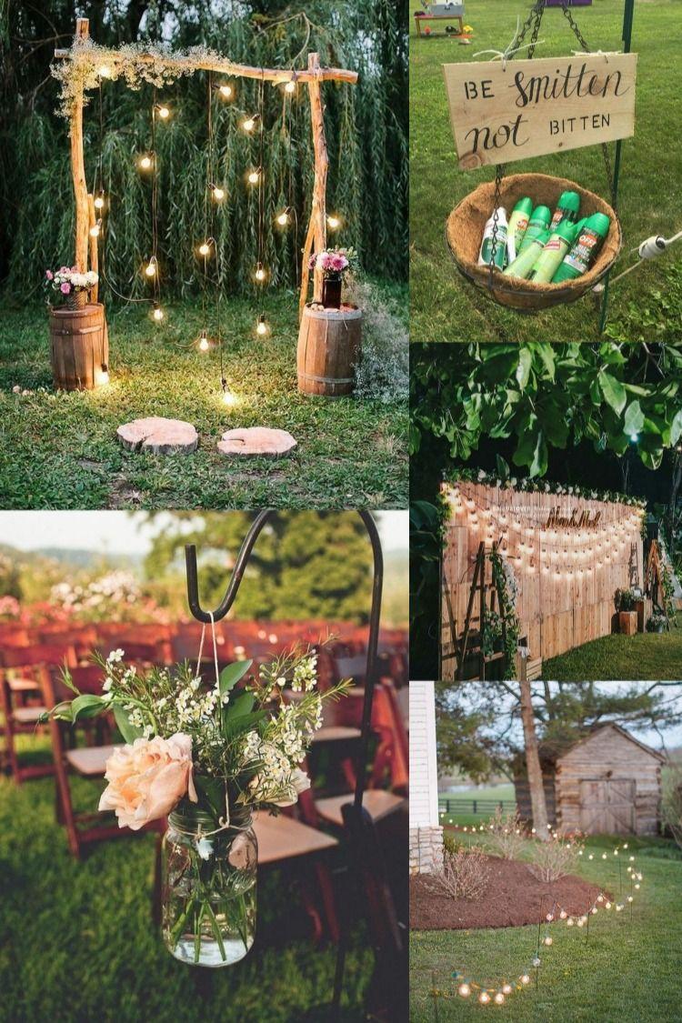 30 Budget Friendly Backyard Wedding Ideas For 2020 Diy Backyard Wedding Backyard Wedding Backyard Wedding Decorations