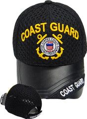 74aa196cdce03 US Coast Guard Baseball Cap Black Leather Embroidered Military Logo ...