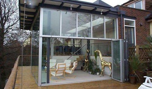 baie vitr e pliante en aluminium sf55 sunflex aluminiumsysteme id e fen tre pinterest. Black Bedroom Furniture Sets. Home Design Ideas