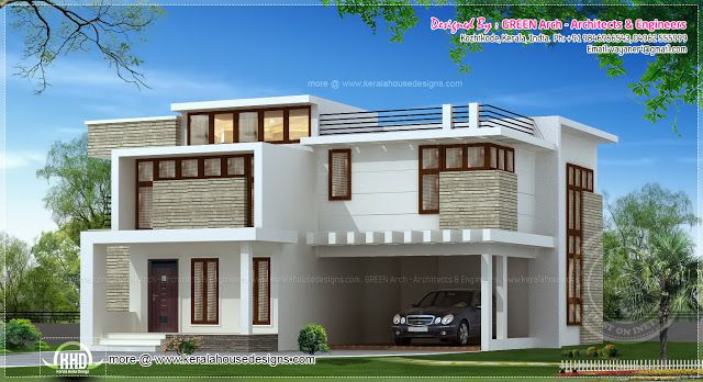 Two floor houses with 3rd floor serving as a roof deck for 2 storey house design with roof deck