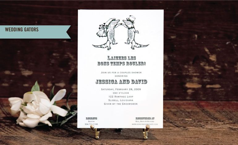 Charmant Scriptura   New Orleans Party Invitations