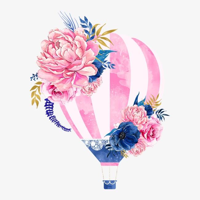 منطاد الهواء الساخن الزهور حر Png و قصاصات فنية Balloon Flowers Balloon Illustration Balloon Tattoo