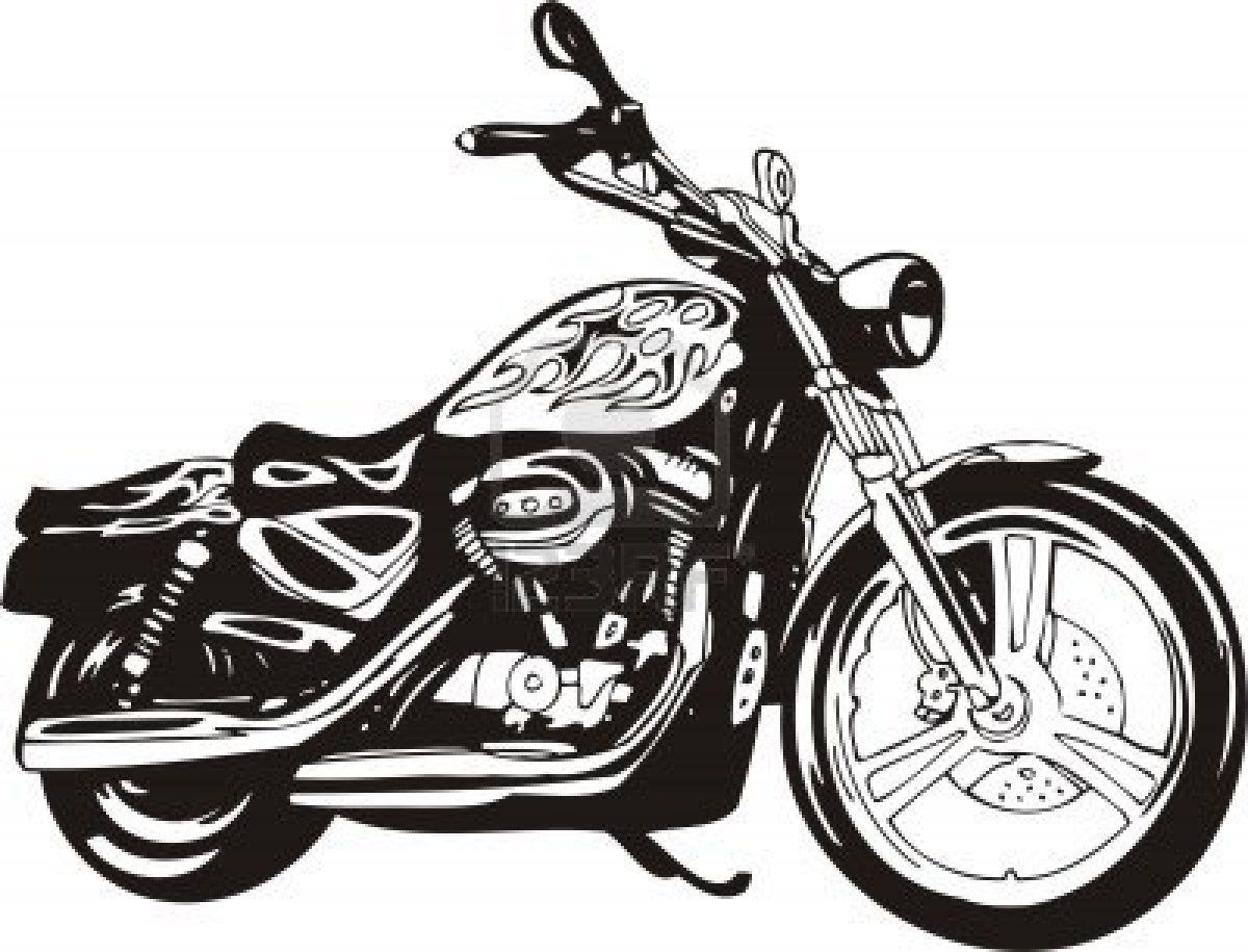 Harley. Vector Illustration. Stock Photo | My Style | Pinterest ... for Harley Motorcycle Clipart  51ane
