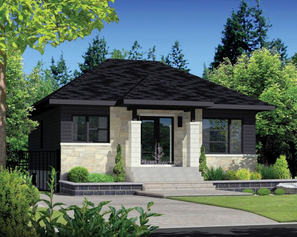 EPlans Contemporary Modern House Plan U2013 Dramatic Front Façade U2013 900 Square  Feet And 2 Bedrooms From EPlans U2013 House Plan Code