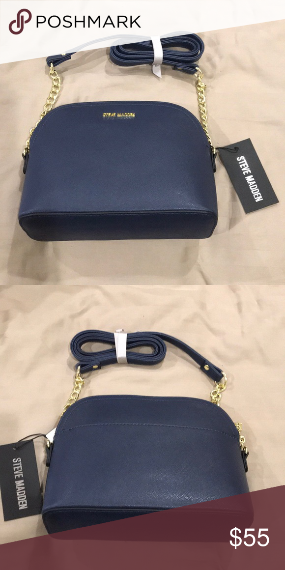 07de27d7d1a Steve Madden Dome Crossbody Bag New with tags, navy blue, 9 by 7 by 3.5  inches Steve Madden Bags Crossbody Bags