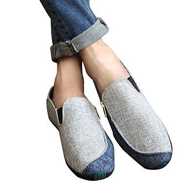 Zapatos muy cómodos en tela y suela de caucho. Very