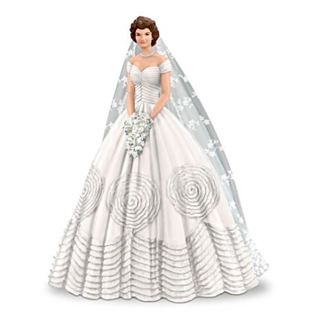 Jackie kennedy 60th wedding anniversary figurine be for Jackie kennedy wedding dress