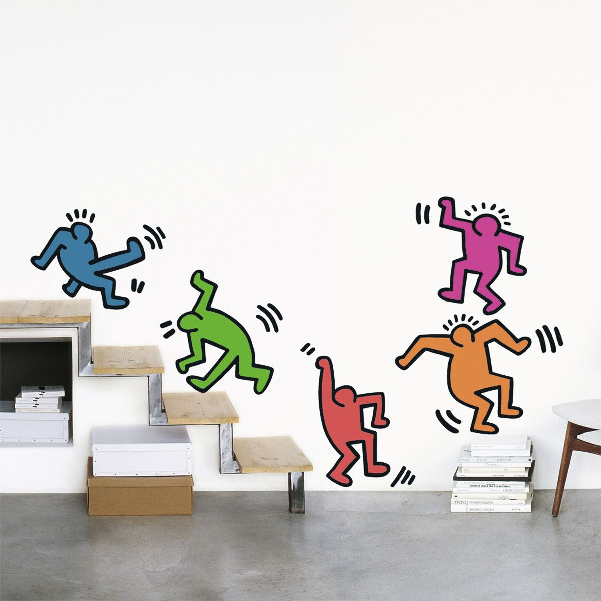 Haring Five Dancing Figures Decals By Nouvelles Images Home