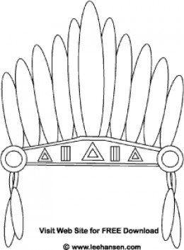 Native American Headdress Printable Coloring Pages Native American Headdress Native American Feathers Native American Crafts