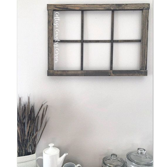 Window Frame - 6 Pane Faux Window Frame - Window - Rustic Window ...