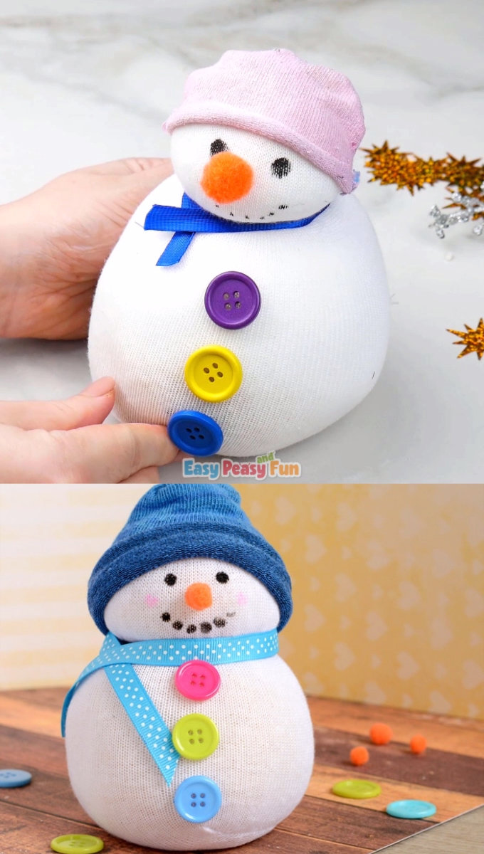 Photo of No-Sew Sock Snowman Craft for Kids