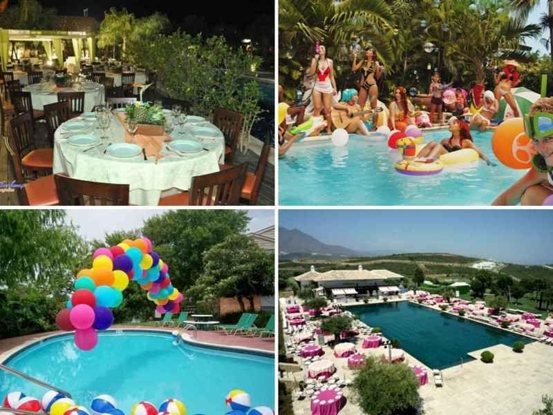 Decoracion de 15 a os en una piscina 7 tile fiestas al - Fiesta de piscina ...