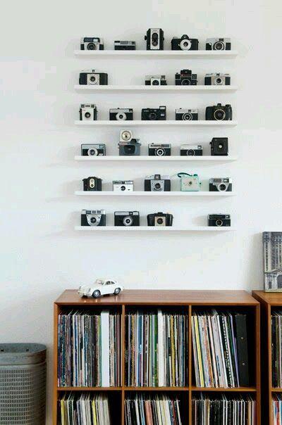 exposer sa collection d appareils photos et ses vieux vinyls personal future home pinterest. Black Bedroom Furniture Sets. Home Design Ideas