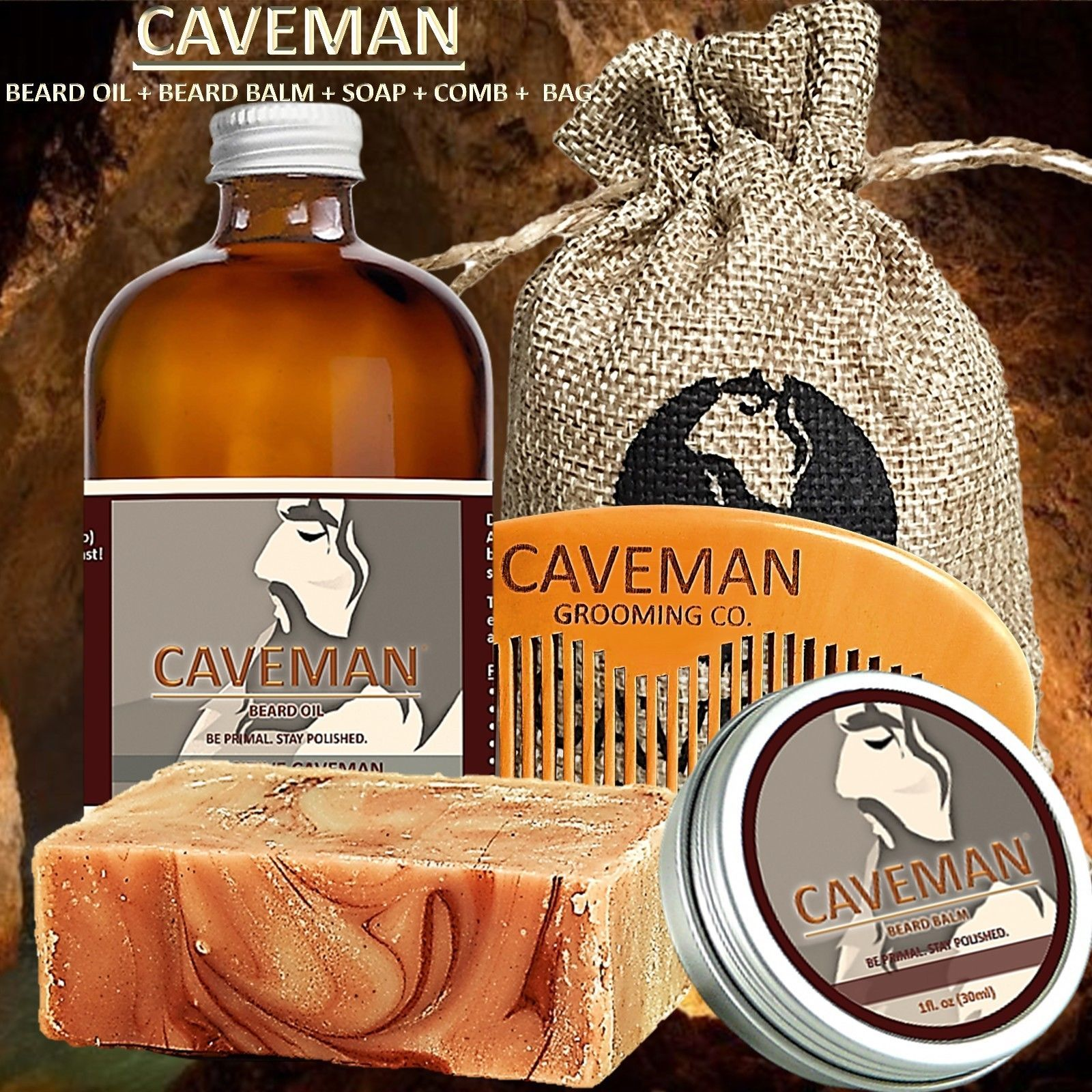 Health & Beauty Hand Crafted Beard Oil Conditioner Huge 2 Oz Black Coffee Fragrance By Caveman® Online Discount