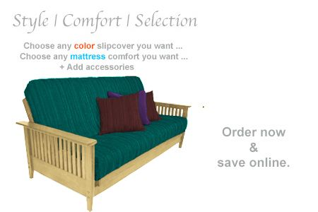 Denali Wallhugger Futon Frame In Natural Finish Comfort Mattress Futon Frame Small Guest Rooms
