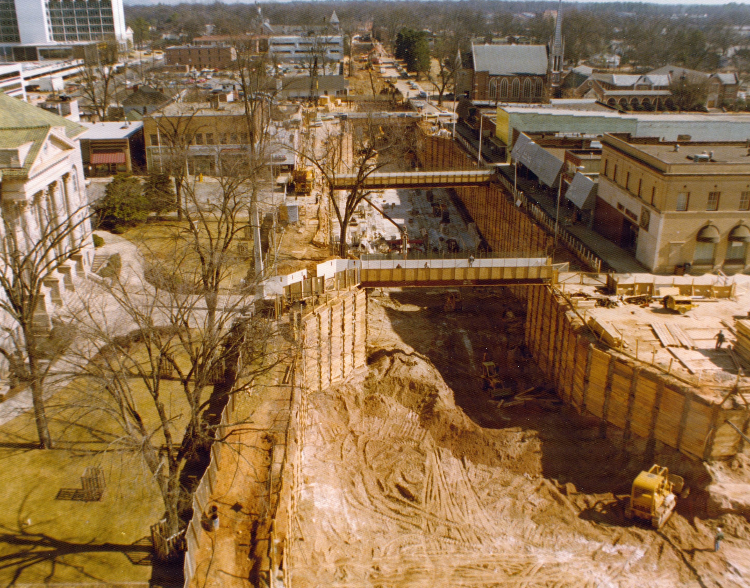 Construction of the MARTA Decatur Station in downtown Decatur