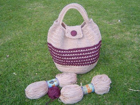 Como tejer bolso en crochet paso a paso tutorial parte 1 - YouTube