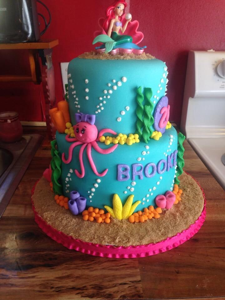 Pin By Selina Edgar On Cakes I Ve Made Little Mermaid Cakes Mermaid Birthday Cakes Mermaid Cakes