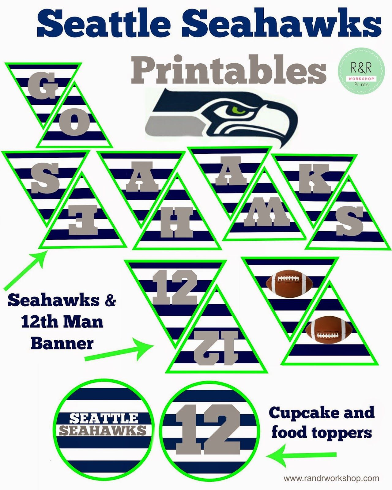 Seattle Seahawks Coloring Page for Kids | Seahawks, Seattle and ...