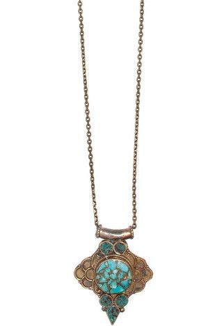 *Free Spirit* Vintage Turquoise Necklace. (one of a kind) - J Grace Designs the Official Jewelry Site of Jami Miller - Winkler - Vintage + Rock Inspired Designer Jewelry and Headscarves - J Grace Designs the Official site of Jami Winkler
