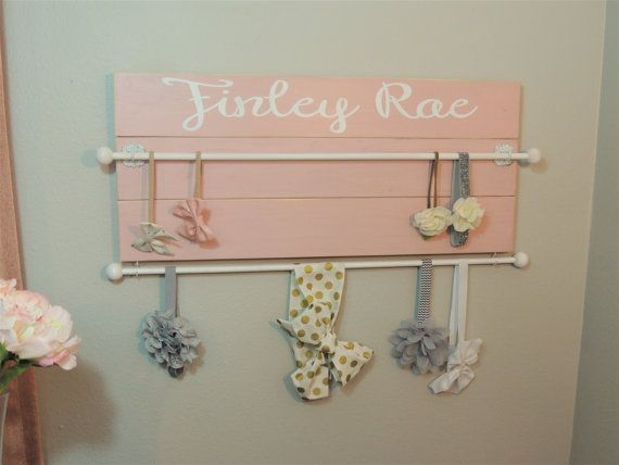 This Wood Plank Style Headband Organizer Is Sure To Fit A Large