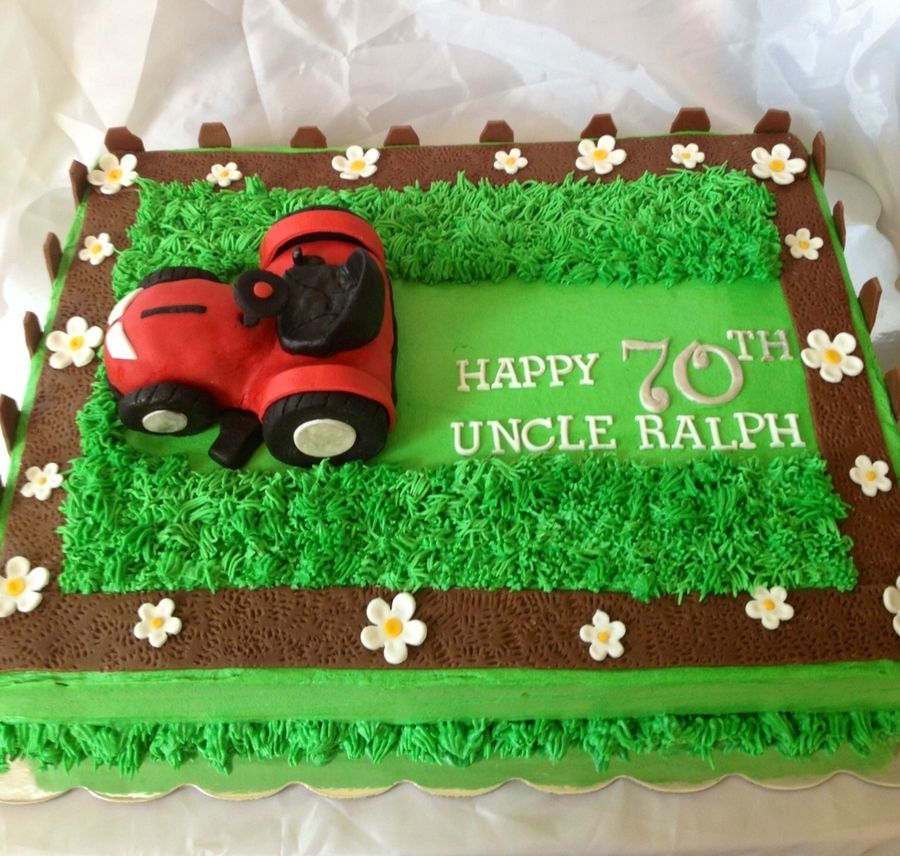Riding Tractor Birthday Cake Lawn Mower Cake Ideas In