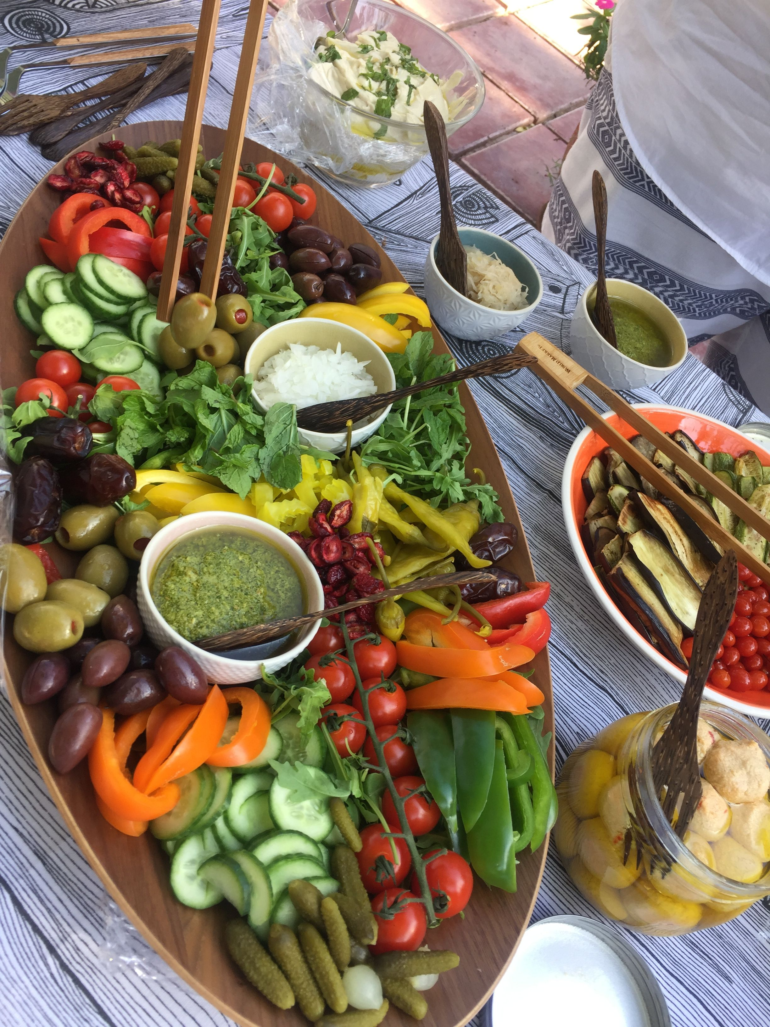 Veggie Platter Picnic Entertaining Vegan Vegetarian
