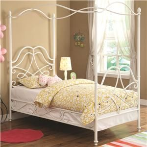 Iron Beds and Headboards Massi Twin Youth Canopy Bed