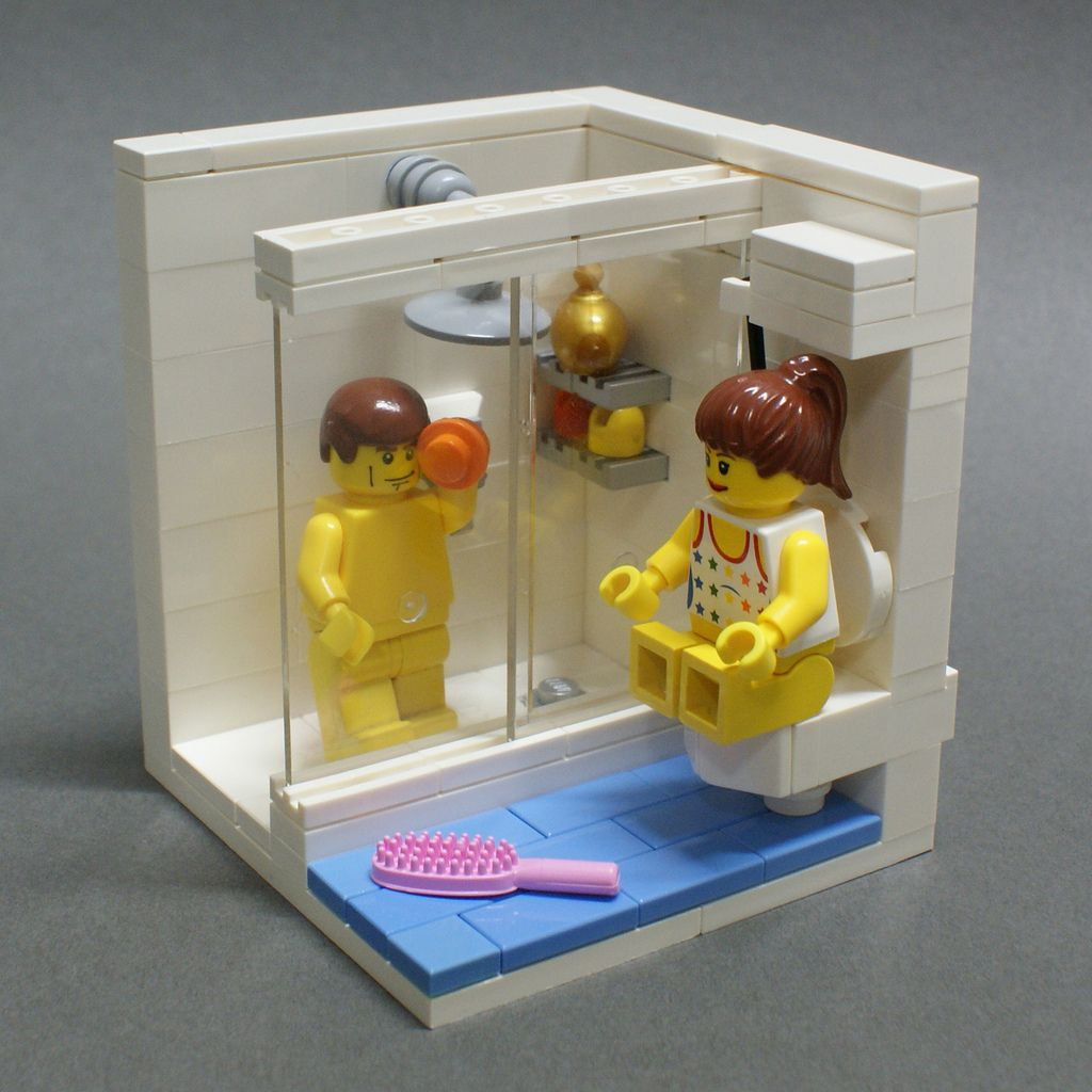 Morning Lego furniture, Lego room, Lego bathroom